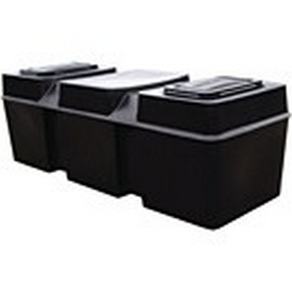 100 Gallon Low Level Loft/Coffin Cold Water Storage Tank, Lid, Jacket & Fittings Pack  - 1790x644x590mm