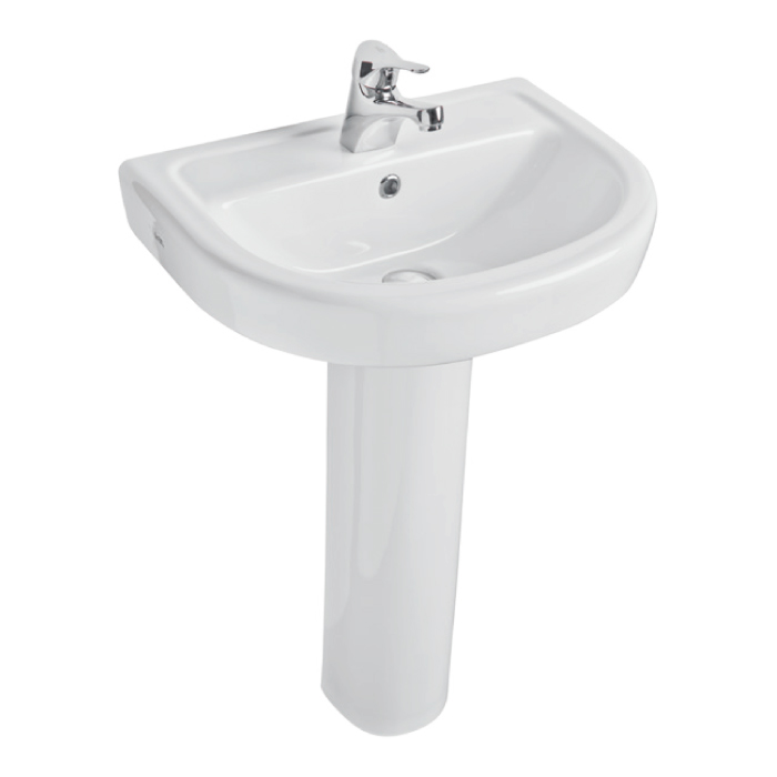 K-Vit Ratio 1TH Basin 550mm & Pedestal