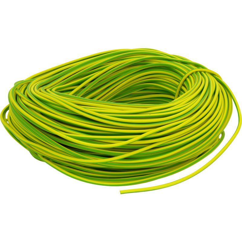 3mm x 100m Green/Yellow PVC Earth Sleeving