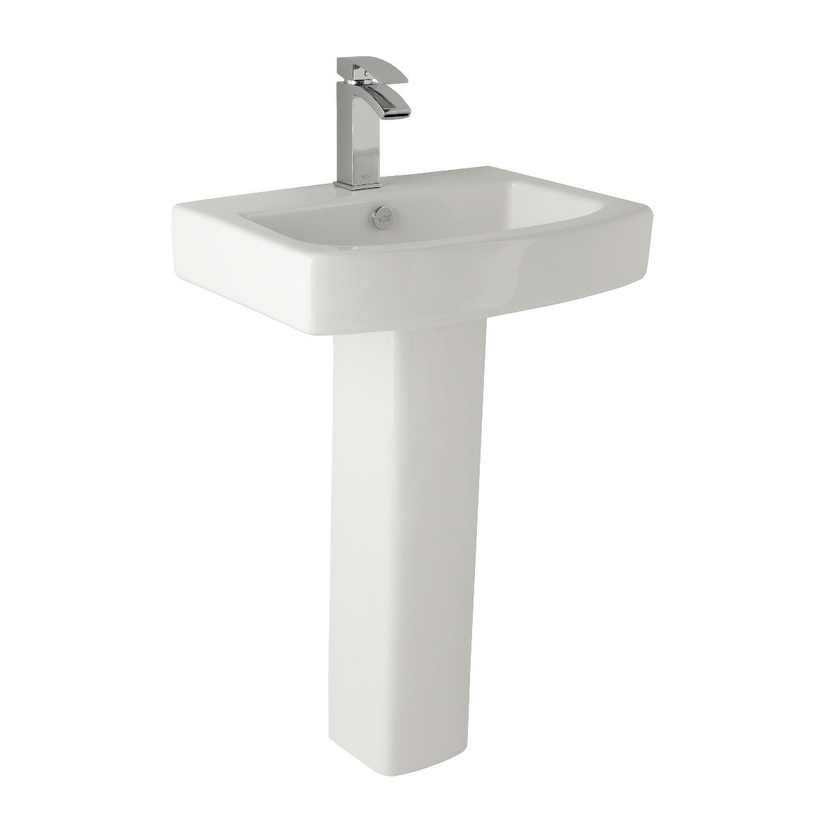 K-Vit Embrace 1TH Basin & Pedestal