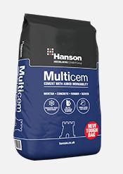 Hanson Multicem General Purpose 32.5N Cement (25kg Hybrid Blue Showerproof Bag)