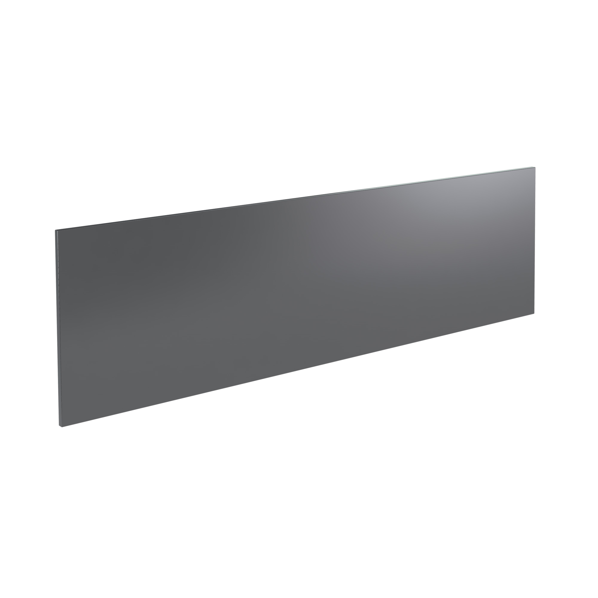 K-Vit Ikon 1800mm Bath Panel - Gloss Grey