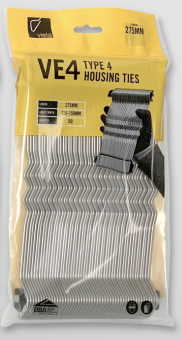 HANDY PACK Type 4 250mm Stainless Steel Wall Ties (For 100-125mm Cavity) (Bag of 50)