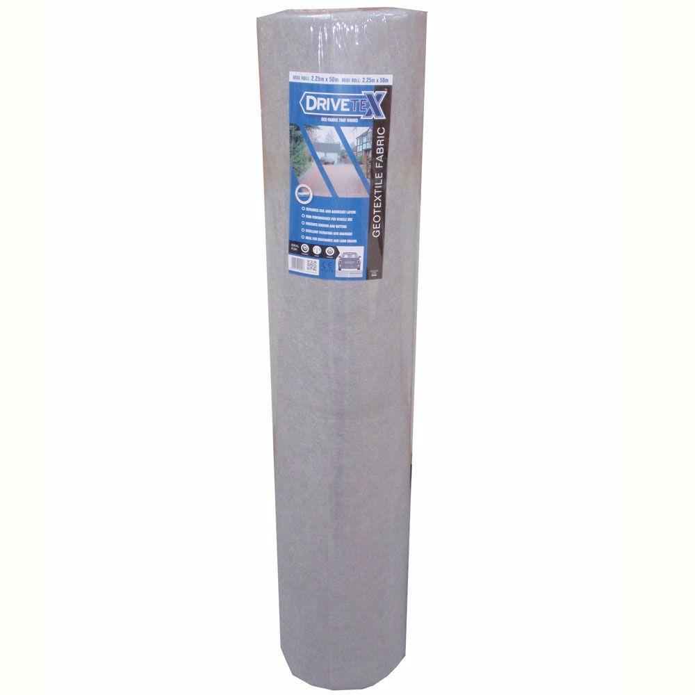 DriveTex Heavy Duty Non-Woven Landscape Fabric Midi Roll - 2.25 x 25m (56m2)