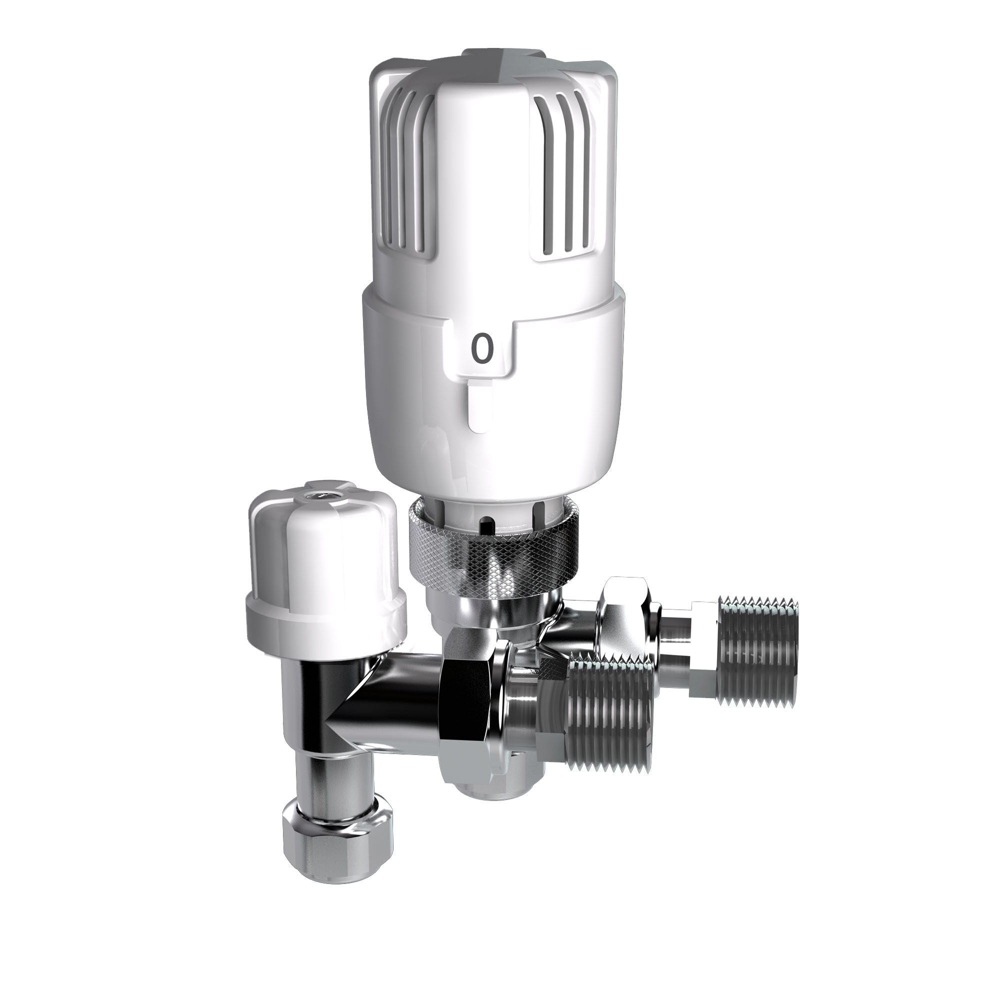 Inta i-Therm 15mm Angled TRV & i-Ten Lockshield Pack