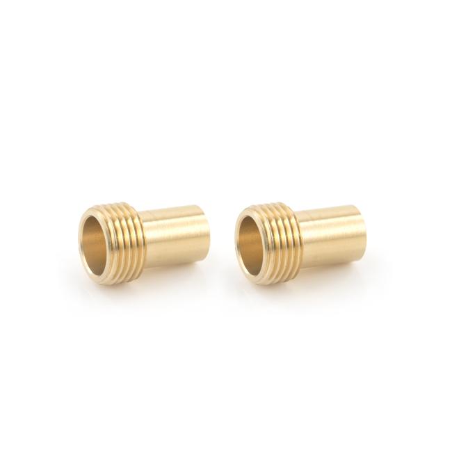"""15mm x 1/2"""" Monobloc BSP Adaptor (Fits 1/2"""" Flexi Tap Nut to 15mm) (Pair)"""