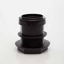 40mm Push Fit Waste Tank Connector - Black