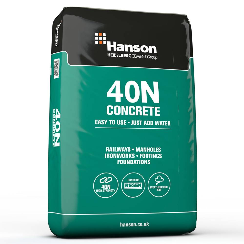 Hanson C32/40 40N Concrete (Pre-Mixed, Just Add Water) (25kg)