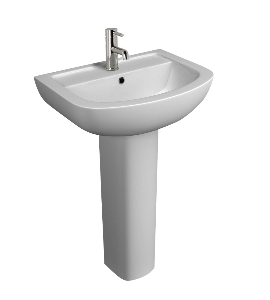K-Vit Studio 550mm 1TH Basin & Pedestal