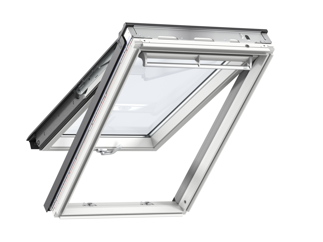 Velux GPL FK06 660 x 1180mm Top Hung 60Pane Roof Window - White Painted