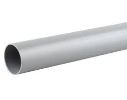 32mm Push Fit Waste Plain Ended 3m Pipe - Grey