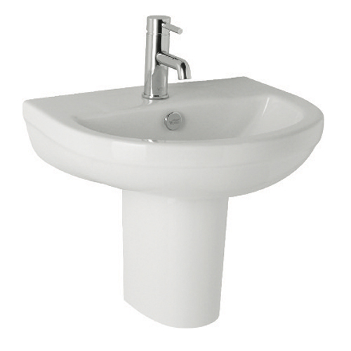 K-Vit Revive Basin 570mm 1TH & Semi-Pedestal
