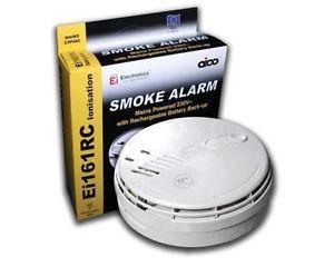 AICO EI161e 240v Ionisation Detector Smoke Alarm (c/w Lithium Battery)