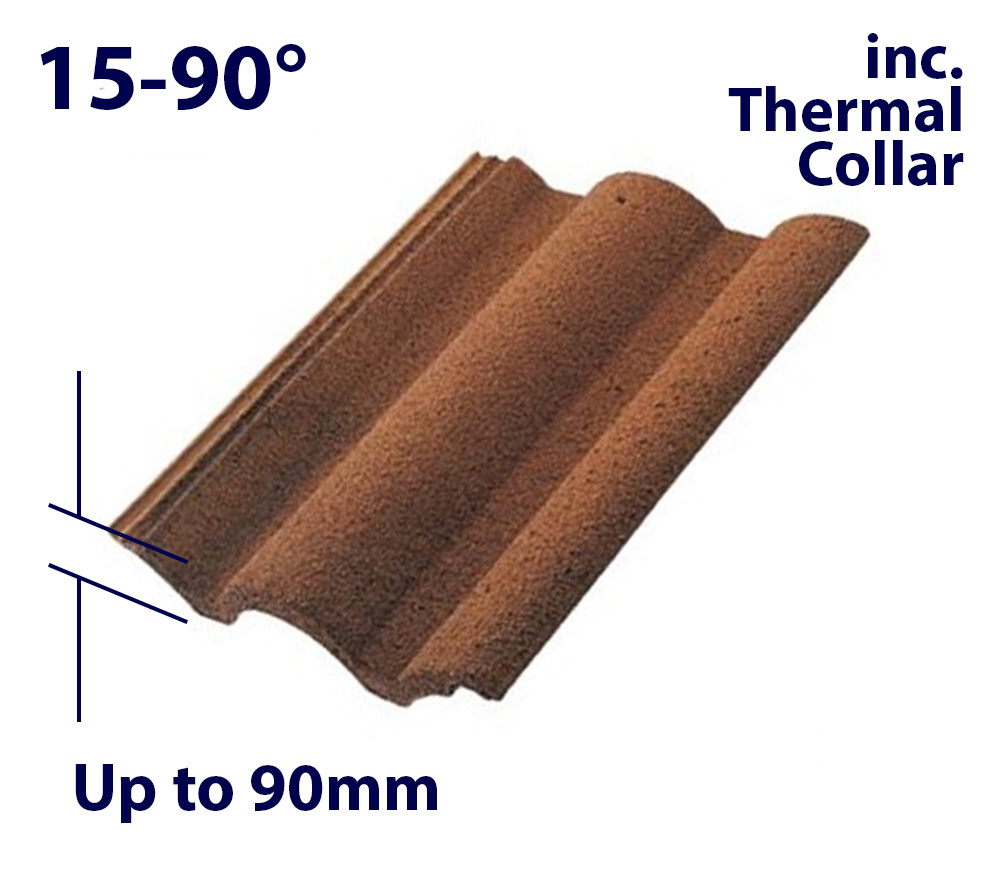 Velux EDW UK08 1340 x 1400mm Standard - Single tile flashing (inc. Insulation Collar)