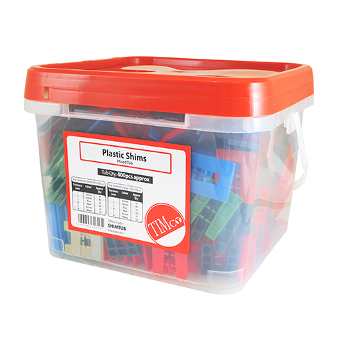 Timco Assorted Plastic Horseshoe Shims (Tub of 400 Mixed 1-6mm)